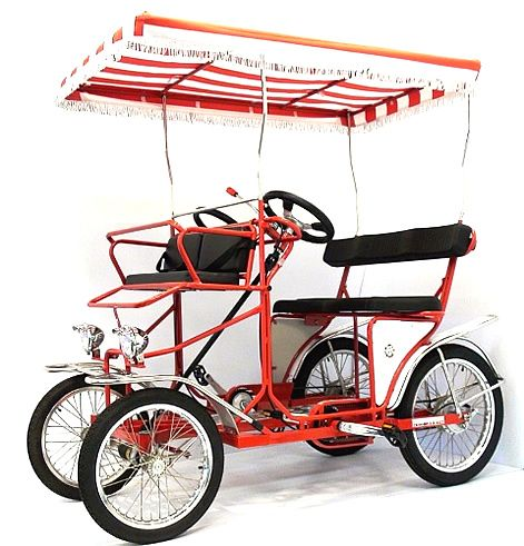 Want Four Wheel Surrey Bike For 2 People To Pedal