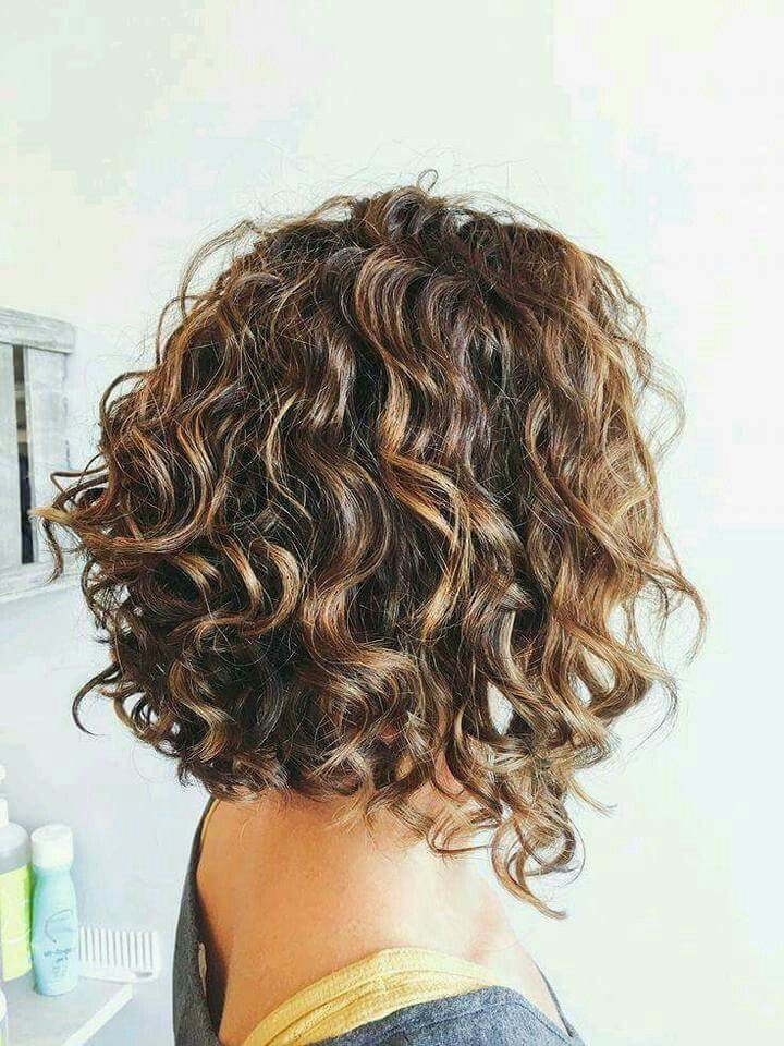 Pin By Den On Volosy Layered Curly Hair Short Permed Hair