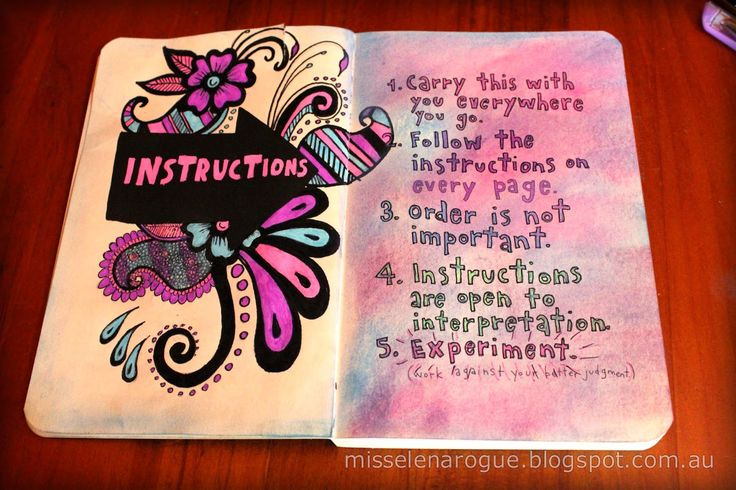 wreck this journal instructions page