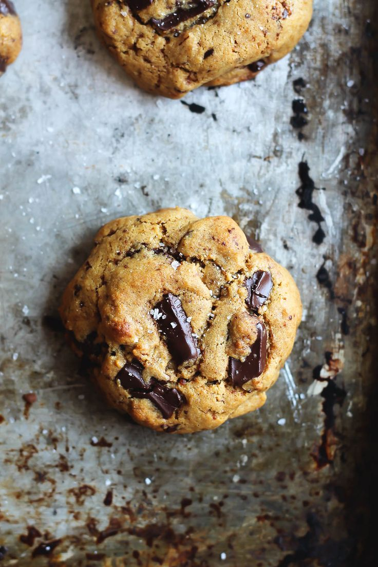 These Chickpea Flour Chocolate Chip Cookies are addicting in the best way. They're dairy free, gluten free, grain free and may just be the best gluten free cookies ever.