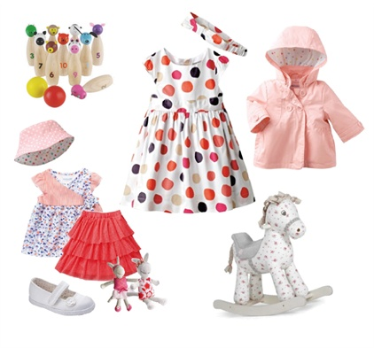 Gifts for a baby girl by Anne Lochhead on Set That -