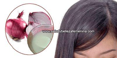 El jugo de cebollas sirve para alimentar a los folículos pilosos y mejorar así su circulación, a la vez que su efecto elimina gérmenes y parásitos, y sirve para tratar infecciones, por lo que también ayuda a prevenir la pérdida del cabello.