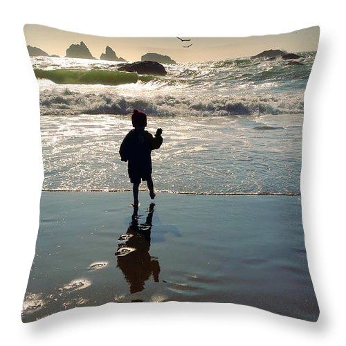 A Stone's Throw Away Throw Pillow featuring the photograph A Stone's Throw Away by Micki Findlay