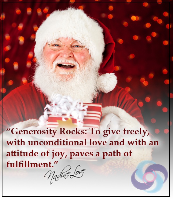 Generosity Rocks: To give freely, with unconditional love and with an attitude of joy, paves a path of fulfillment.