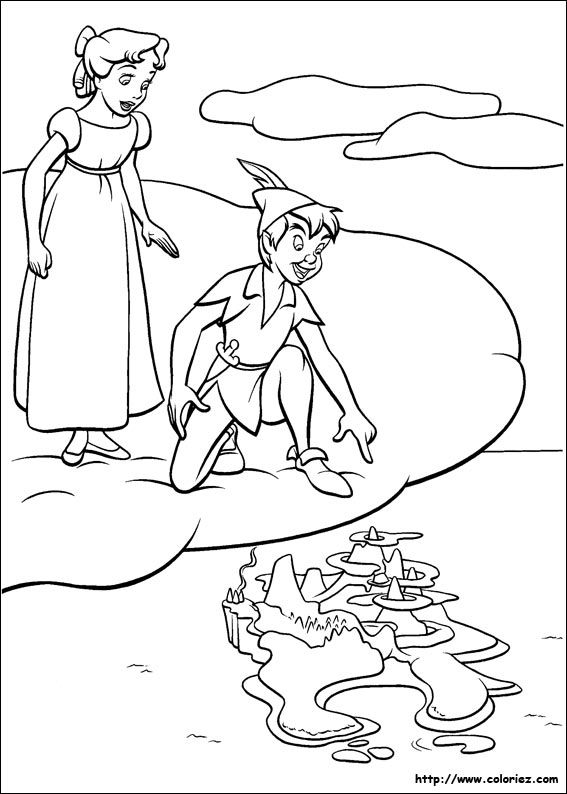 66 best Peter pan images on Pinterest Peter pan coloring pages
