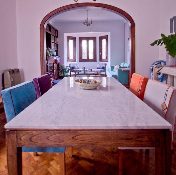 Mesa con tapa de m rmol de carrara comprar en muebla for Mesas de marmol para cocina