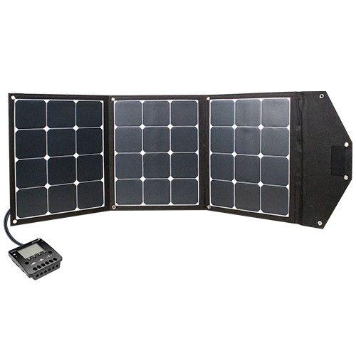 Modul Kit Phaesun Fly Weight 3X35 Premium Stecken sie ihre Solarpower einfach in die Tasche. Faltbares Solarodul des Herstellers Phaesun.  Das Modul in der Übersicht:  3x35W (105W), 12 VDC, 3x 12 Zellen, mono, Textilrahmen, 5 Meter Kabel mit Batterieklemmen, mit Laderegler Phocos CX up 10 A mit USB Anschluss, faltbar und tragbar, entfaltet 1280x540x10
