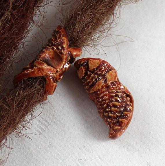 ceramic beads for dreads dreadlock cingari clay by SparkleCingari