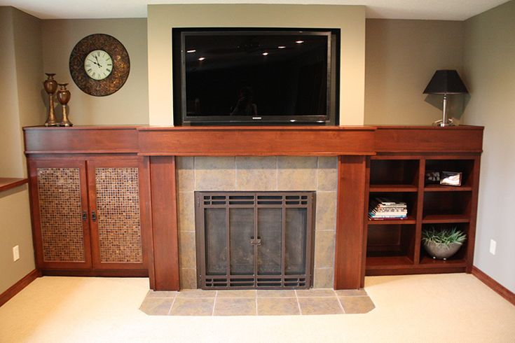 28 best images about basement ideas on pinterest for Fireplace cabinet ideas