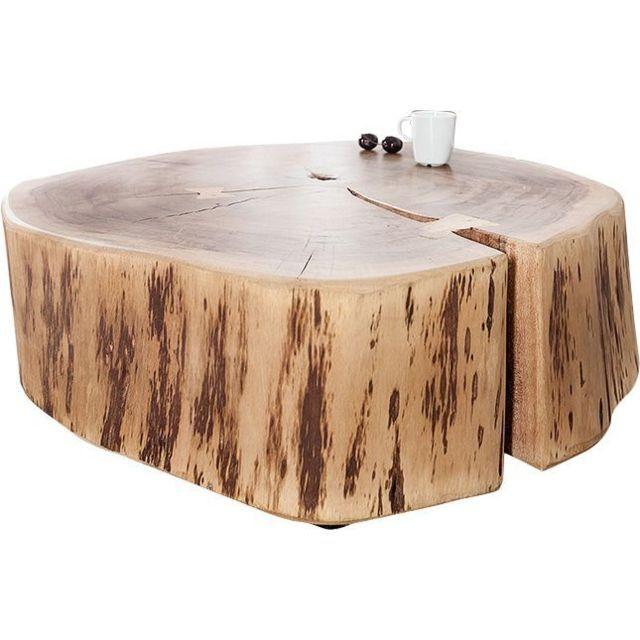 Comforium Table Basse 60 Cm En Bois Massif D Acacia Avec Des