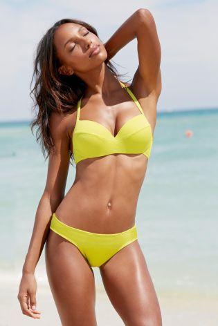 Buy Textured Swimwear: Plunge Bikini Top from the Next UK online shop