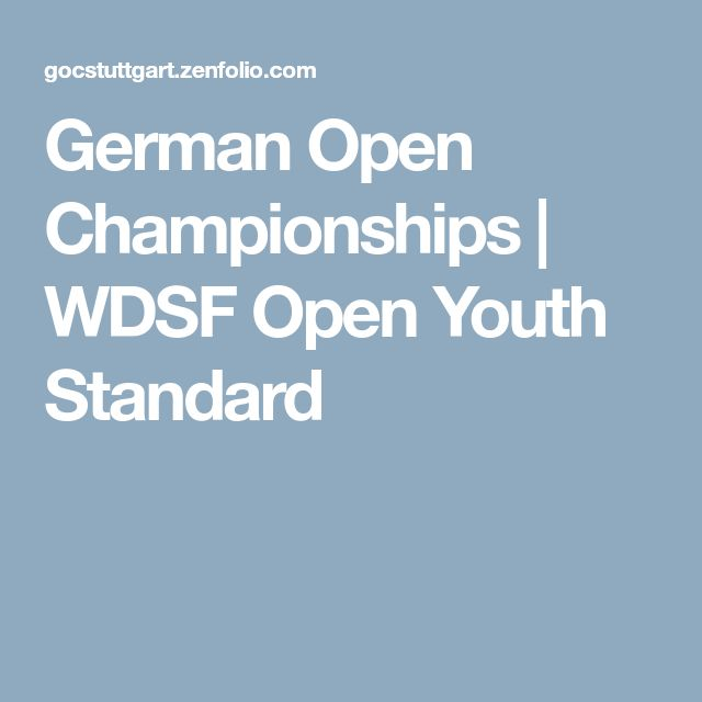 German Open Championships | WDSF Open Youth Standard