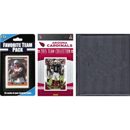 C Collectables NFL Arizona Cardinals Licensed 2015 Score Team Set and Favorite Player Trading Card Pack Plus Storage Album, Multicolor