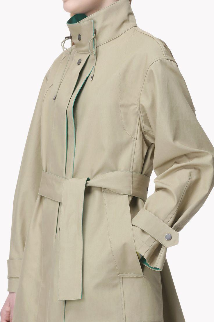 İpli yaka tersinir ceket