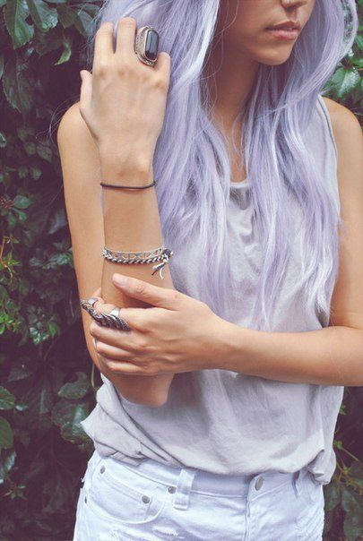 Maybe I should let my hair go grey and then color it lilac.