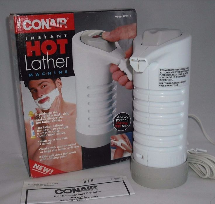 Conair Instant Hot Lather Machine Shaving Cream Warmer Dispenser Works EUC #Conair