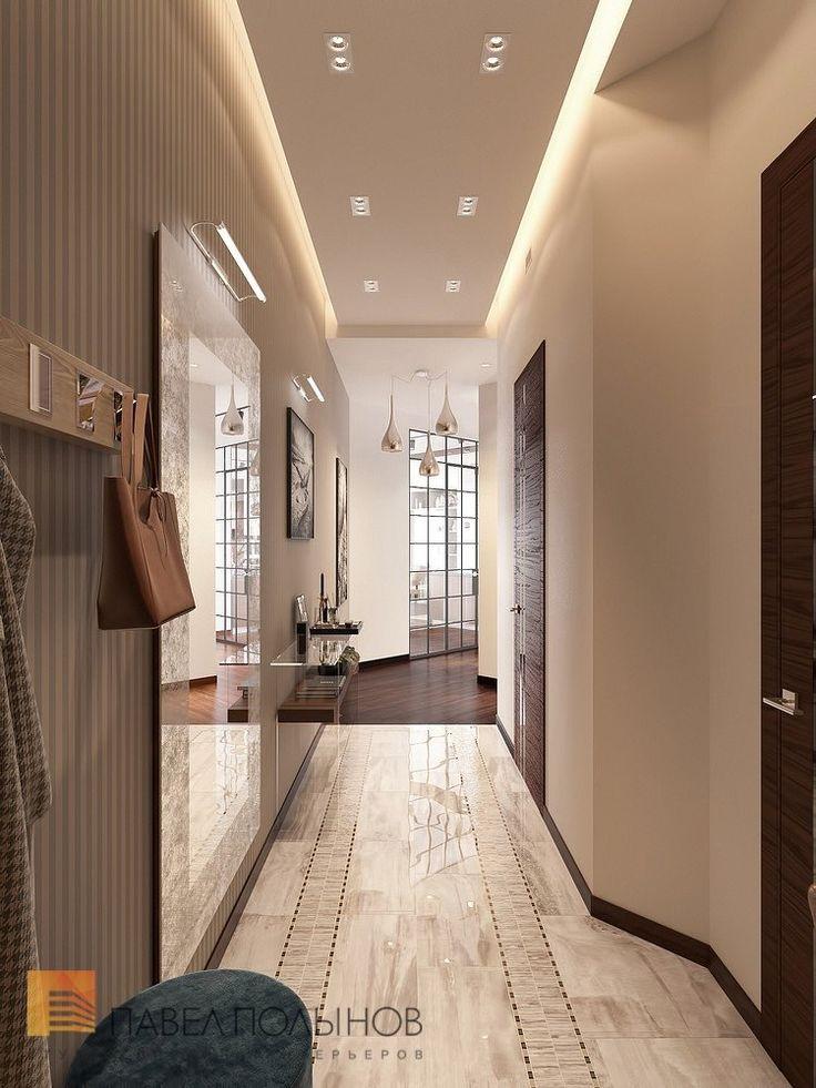 Фото дизайн холла из проекта «Дизайн интерьера трехкомнатной квартиры 127 кв.м., ЖК «Парадный квартал», современный стиль»