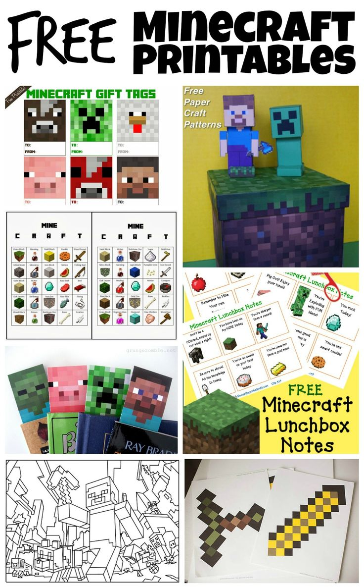 Free Minecraft Printables - #GameOnTheGo #Ad #cbias @MyGameband