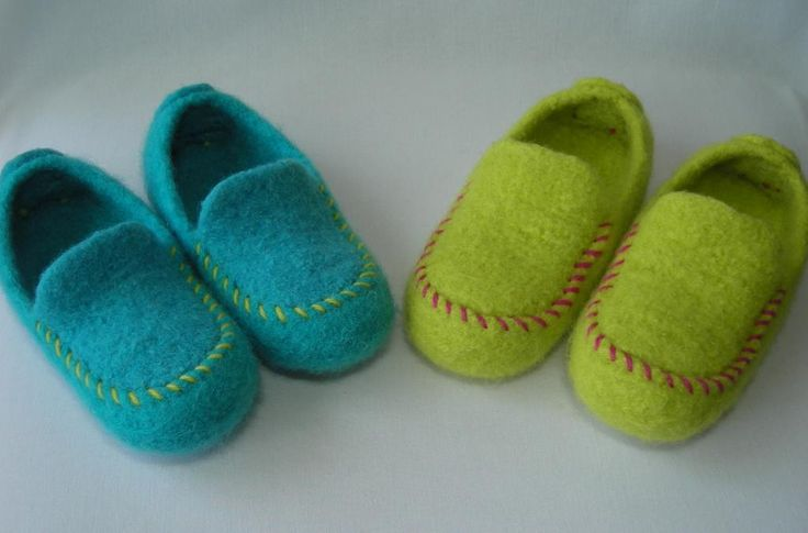 Kid's Felted Moc Slippers pattern on Craftsy.com
