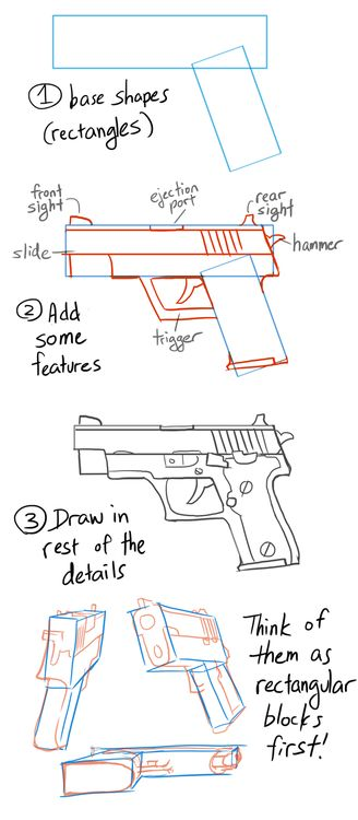 Anonymous asked you: How did u get so good at drawing guns, and how long have u been drawing them?