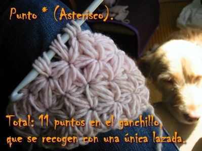 Punto * (Asterisco) :: super interesting looking stitch. page translates with google translate alright from spanish. fun little challenge to replicate when one has some extra time