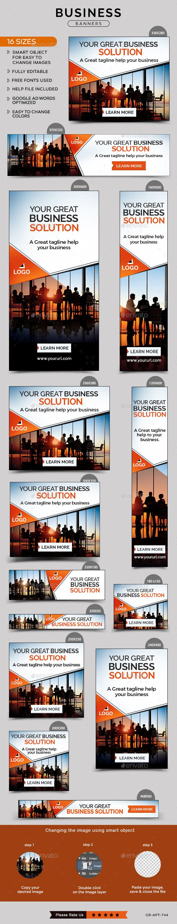 Business Banners Template #design Download: http://graphicriver.net/item/business-banners/12062344?ref=ksioks
