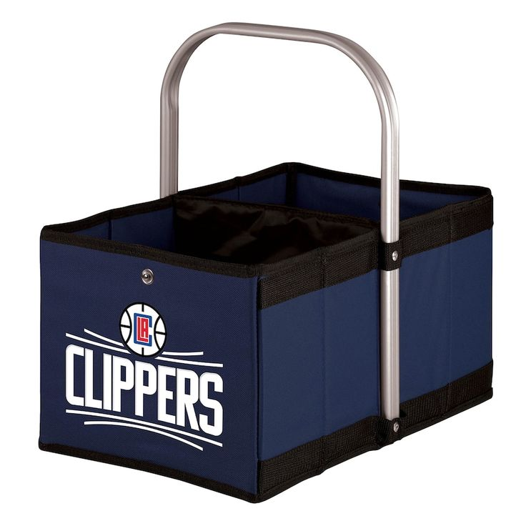 Picnic Time Los Angeles Clippers Urban Folding Picnic Basket, Blue (Navy)