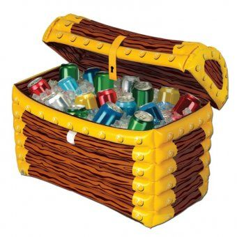 Inflatable Pirates Treasure Chest Drinks Cooler - Pirate Party Decoration Ideas