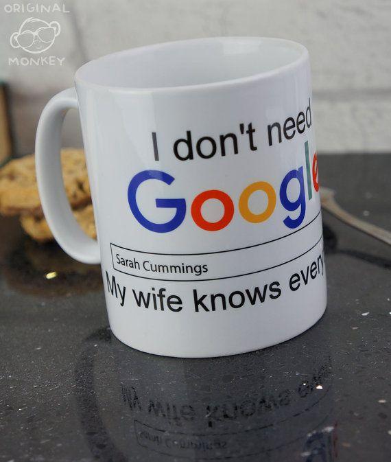 Personalised Mug. Funny Mug Design I Don't need by OriginalMonkey