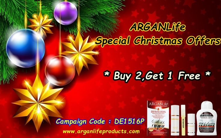 Arganlife Christmas Campaign has officially began ! You can have 3 products for two products price! Do not forget to write campaign code on Paypal notes !