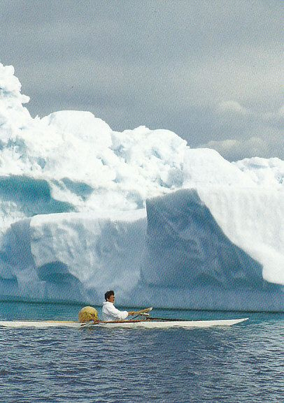 Greenland kayaking among icebergs #kayak #kayaker #kayaking #kayaks