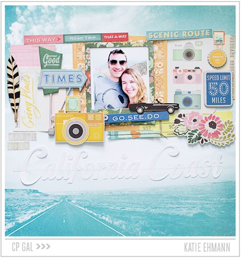 California Coast by Katie Ehmann for Crate Paper