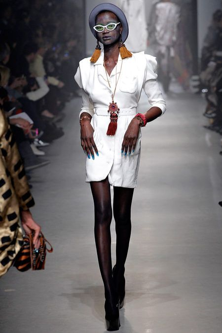 Vivienne Westwood Fall 2013. 1980-1995 Costume for Women: many designers use shoulder pads to enhance their designs.