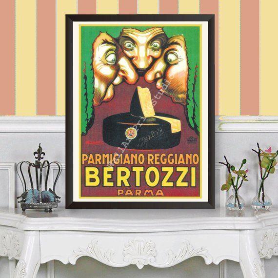 Vintage Advertisingitalian Vintageitalian Artkitchen Wall Etsy Wall Art Prints Italian Print Vintage Advertisements