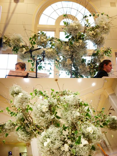 #Babysbreath #Ivy #White #Rose #Installation #Events #PohoFlowers #Poho #Flowers