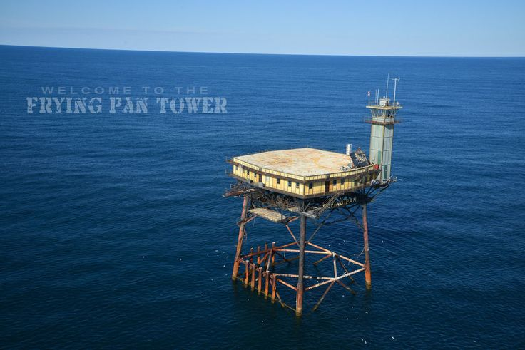The Frying Pan Tower is a Coast Guard Light Station B&B located 34 miles off the coast of North Carolina that is being restored and has open...