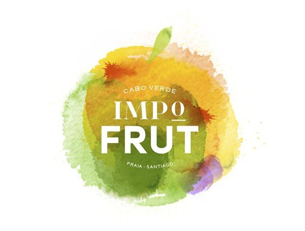 Colorful fruit logo