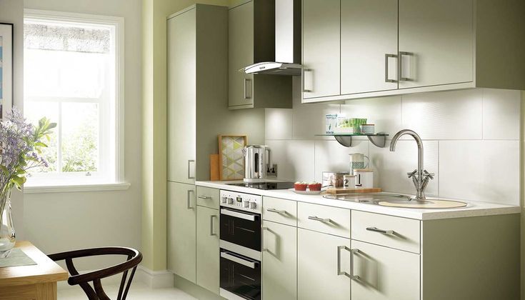 Options Olive Green Kitchen