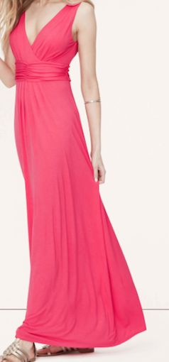 In love with this hot pink maxi dress