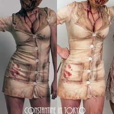 How to stain/dirty up a white nurse costume...zombie nurse (not into the silent hill mask)