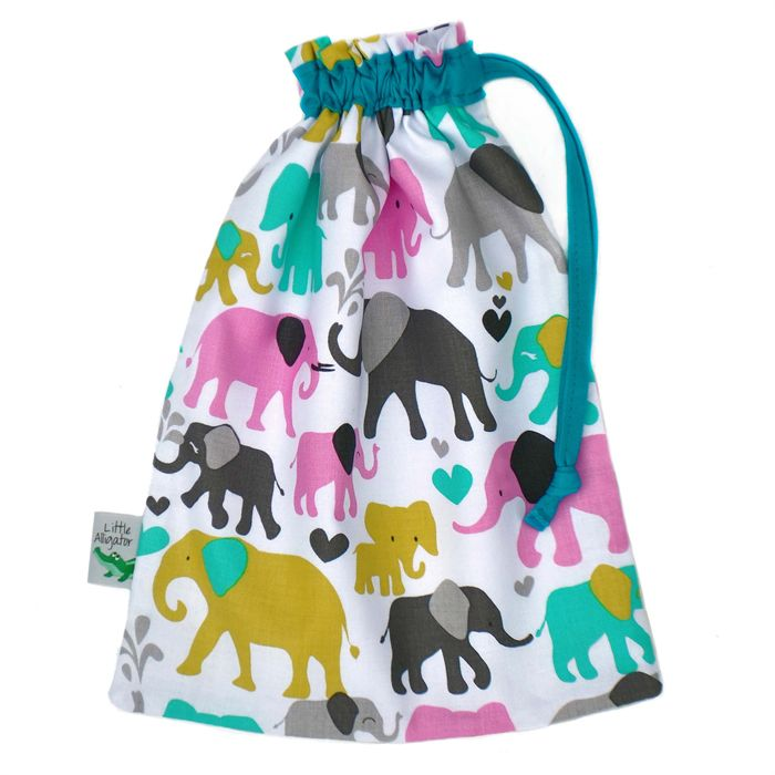 Cute Elephant Toy Bag. Makes a Sweet Newborn Gift or Baby Shower Present.