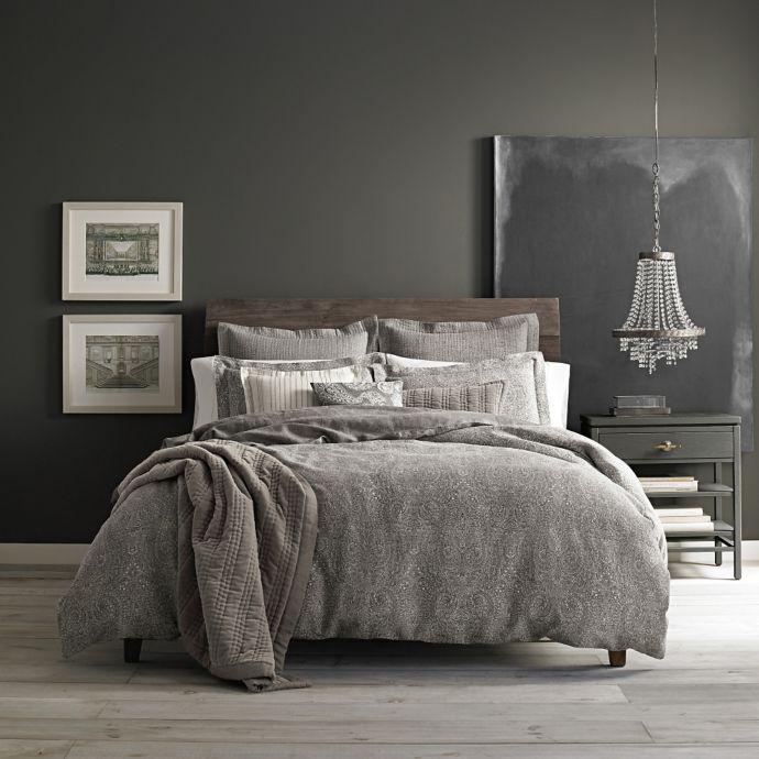 Wamsutta Vintage Paisley Linen Duvet Cover In Grey Bed Bath Beyond Duvet Cover Master Bedroom Luxury Bedroom Inspiration Linen Duvet Covers