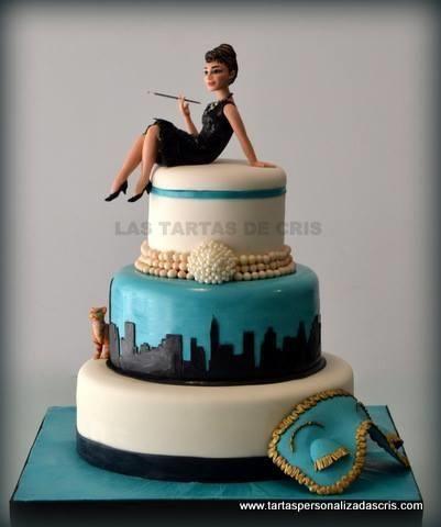Breakfast at tiffany ´s - Cake by LAS TARTAS DE CRIS