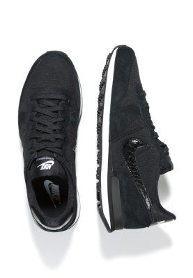 Nike Sportswear - INTERNATIONALIST - Sneaker - black/white