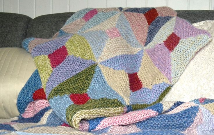 Make a throw using scrap yarn is a free downloadable pattern from Ravelry...