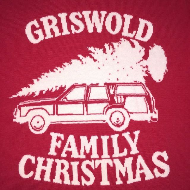 Griswold Family Christmas Vacation Sweater Large National Lampoon Cotton Red | eBay