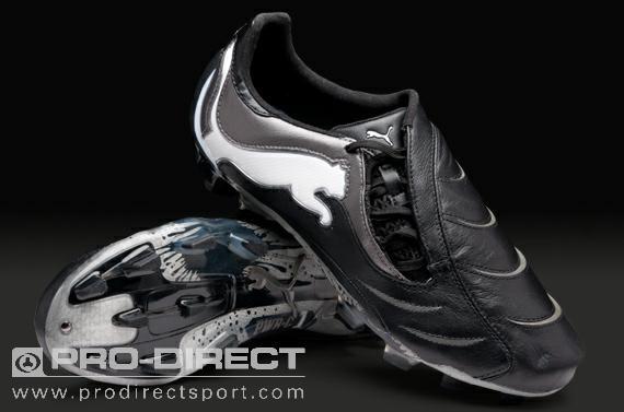 Puma Football Boots - Puma PowerCat 1.10 FG - Firm ground - Soccer Cleats - Black/White/Aged Silver