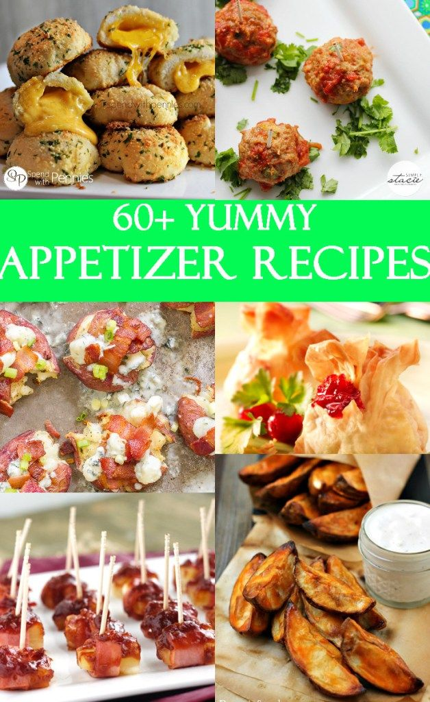 A collection of over 60 of the best appetizers recipes! Great for #holidays, #parties, and entertaining! From TheGraciousWife.com