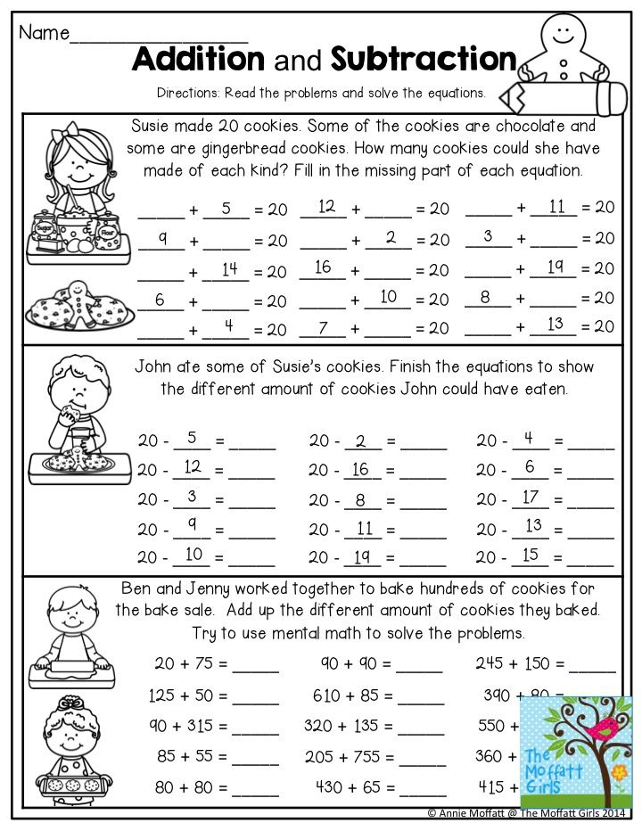 Addition And Subtraction Read The Word Problem And Solve The