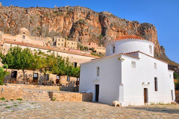 Beautiful #churchesinGreece See more here http://www.love4weddings.gr/ekklisies-gia-gamo-peloponisos/ #Greekchurches #monemvasia
